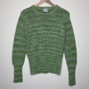 Columbia | Green Stripe Wool Blend Sweater Size L